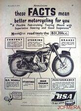 1954 Motor Cycle ADVERT - B.S.A. '350cc OHV Model B.31' Print AD #2