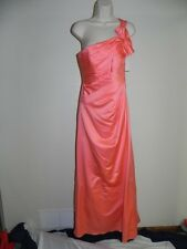 Davids Bridal Dress Size 10 Coral Reef Peach Bridesmaid F14430 Prom NWT $159