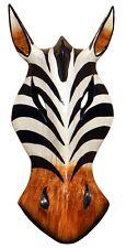 Schöne 20 cm Zebra Holz Maske Afrika Wandmaske Handarbeit Bali Maske73