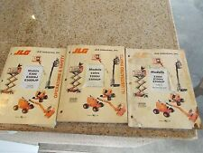 (319) JLG E300 E300AJ E300 AJP Service Parts Operators manual 3 Book Set