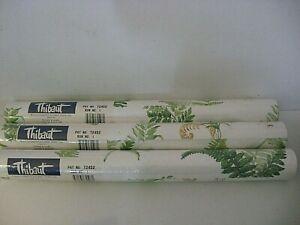 Lot 3 Thibaut Wallpaper 3 Double Rolls Ferns Print 56.37 SQ FT EACH Washable