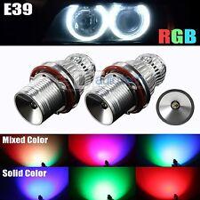 High Power Error Free RGB Multi-Color E39/E60 LED Angel Eyes Halo Light Bulbs