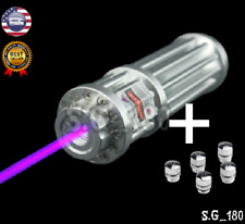 High Power 5000000M Purple Laser Pointer 405Nm Lazer Flashlight Burning Match