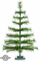 36'' Alpine Green Christmas Tree Tinsel Feather Style Holiday Tree 3FT Table-Top
