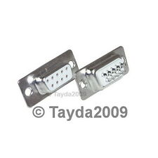 2 x D-SUB CONNECTOR 9 PINS FEMALE - High Quality - FREE SHIPPING