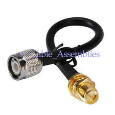 RP-SMA female to TNC male plug adapter connector RF pigtail Coax Cable RG58 50cm