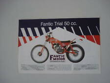 advertising Pubblicità 1981 MOTO FANTIC TRIAL 50