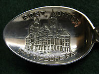 Sterling  Souvenir Spoon Pittsburgh, PA Post Office 1900