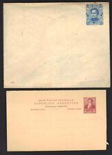 ARGENTINA 1920-30's 6¢ P.C. & 15¢ MORENO DESIGN POSTAL COVER ESSAY UNISSUED PER