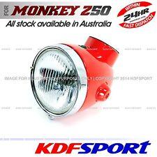KDF HEADLIGHT LIGHT SPEEDO HEAD RED FOR HONDA MONKEY Z50A K0 K1 K2 MINI TRAIL
