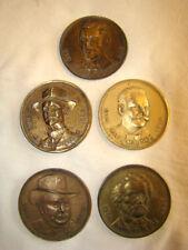 """lot de 5 médailles commémoratives émises par la """"G.A"""""""