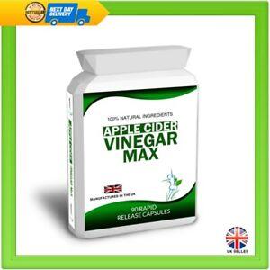 Apple Cider Vinegar 90 Capsules Pills Weight Loss Diet Detox Slimming