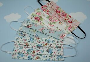 Handmade Cath Kidston Pleated Double Layer Reusable Washable Face Mask