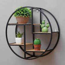 Wooden Metal Wall Storage Hanging Decoration Modern Industrial Style Racks Shelf