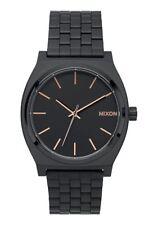 *BRAND NEW* NIXON WATCH THE TIME TELLER ALL BLACK / ROSE GOLD A045957 NIB!