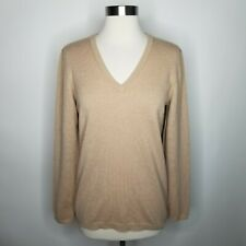 Brunello Cucinelli Elbow Patch Sweater In Tan Size XL