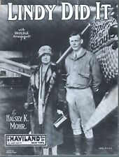 Lindy Did It 1927 Charles Lindbergh Sheet Music