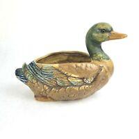 Vintage Lefton Ceramic Duck Planter MCM H7879