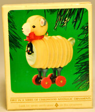 Hallmark: Wooden Lamb - Series 1st - Classic 1990 Keepsake Ornament