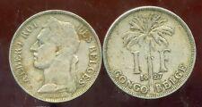 CONGO   BELGE   1 franc 1927  (  belges )
