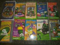 Veggie Tales Lot of 10 (VHS) Videos Children's Christian Values Animated Cartoon