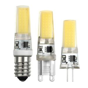 10/1X E14 G4 G9 Lamp Bulb 5W COB SMD LED Light replace Chandelier AC 220V 2508