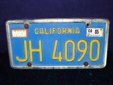 "1970's-80's California TRAILER License Plate ID Tag ""JH 4090"" CLEAR DMV!!"