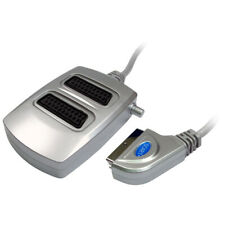 2 Way Silver Coloured Switched SCART Cable Box Signal Splitter Lead Wire