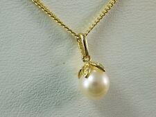 Echte Edelstein-Halsketten & -Anhänger aus Gelbgold mit Prinzess