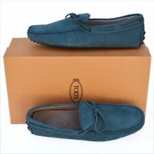 TOD'S Tods New sz UK 9.5 - US 10.5 Auth Designer Mens Drivers Loafers Shoes blue