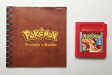POKEMON: Red Version Nintendo Game Boy (1998) with Manual! TESTED WORKING SAVES