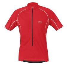 Équipements rouge Gore pour cycliste