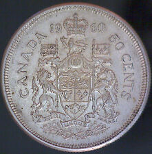 1960 Canadian Silver 50 Cent Coin - #785