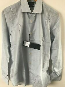 """Paul Smith Gents Formal Tailored Shirt in Blue Sripe Sizes 15"""" - 17"""" - RRP £180"""