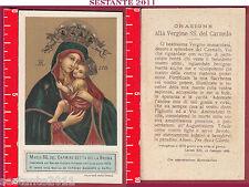 3384 SANTINO HOLY CARD MADONNA MARIA SS. DEL CARMINE DETTA DELLA BRUNA NAPOLI