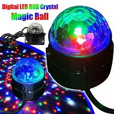 Mini RGB LED Disco Stage Lighting Ball DJ Crystal Magic Light Home Night Party