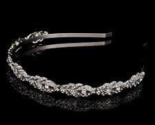 Women Girls Wedding Leaf Crystal Hair Band Headband Hoop Tiara Crown headpiece