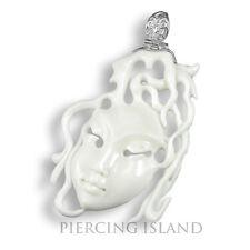 Venezianische Maske Karneval Anhänger Kettenanhänger Amulett Silber PB241