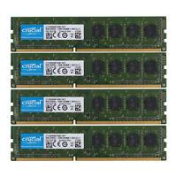 Crucial 32GB 4x 8GB DDR3 1600MHz PC3L 12800U Memory RAM DIMM Desktop 8 GB PC3