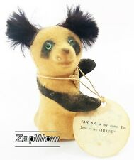 More details for panda souvenir london zoo 1968 vintage an an chi chi fairylite flocked toy 1960s