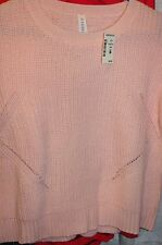 New Aeropostale  TEEN/ Girls  PALE PINK Knit Sweater Relaxed Fit Size SP