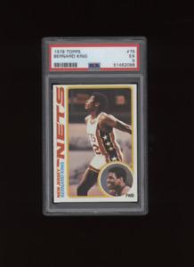 1978 Topps Bernard King #75 New Jersey Nets Knicks    PSA 5