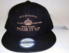 Hip Hop Snapback  Hat Pour it Up  - Urban Streetwear    Black - Sneaktip