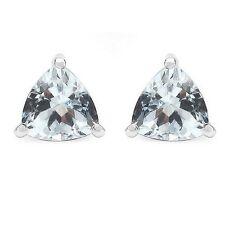 Ohrringe/Ohrstecker Lucie, 925er Silber, 0,82 Kt. echter Aquamarin 5 mm Trillion