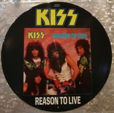 "Kiss  Reason To Live  4 Track UK Import Picture Disc  EP  12""  45 Rpm KISSP 812"