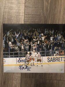 Stephane Matteau 1994 ECF Game 7 Winner Rangers Signed 8x10 Photograph - Steiner