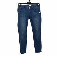 Hudson Womens 25 Medium Wash Skinny Leg Stretch Denim Cropped Blue Jeans