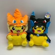 2X Pokemon Cosplay Mega Charizard X Y Cape Pikachu Plush Soft Toy Doll Teddy 12""