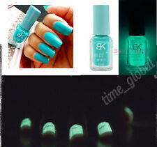 1Pc Glow In Dark Nail Art Polish PinkyColor Fluorescent Neon Luminous Varnish 6#