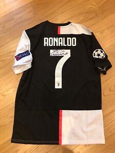 maglia shirt juventus ronaldo calcio adidas L nr 7 autografata